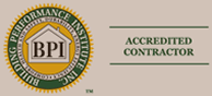 We are a Building Performance Institute Accredited Contractor